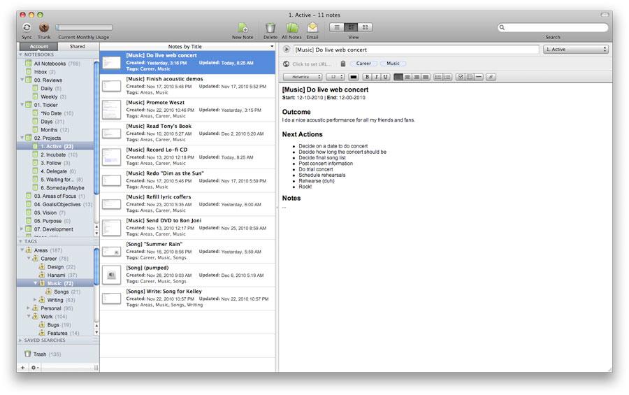 Como organizar: Projetos no Evernote