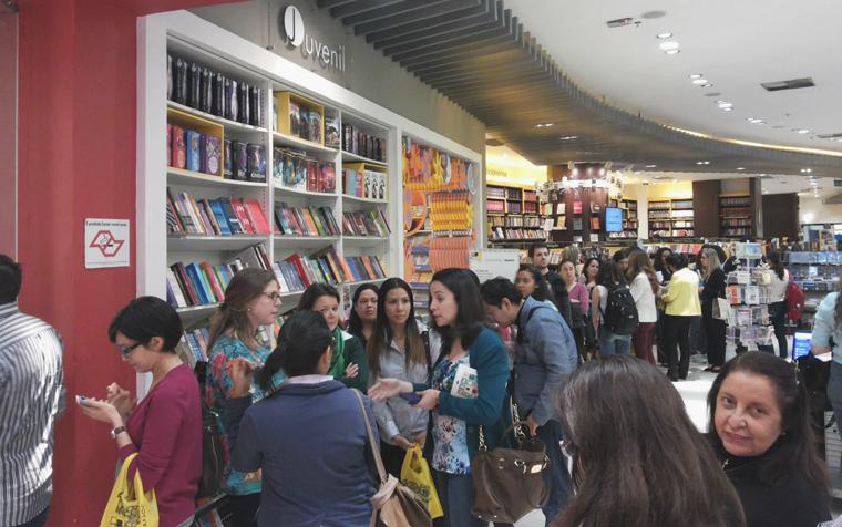Lançamento do livro na Saraiva Paulista
