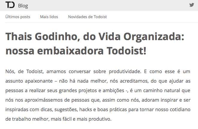 Imagem: Blog Todoist Brasil