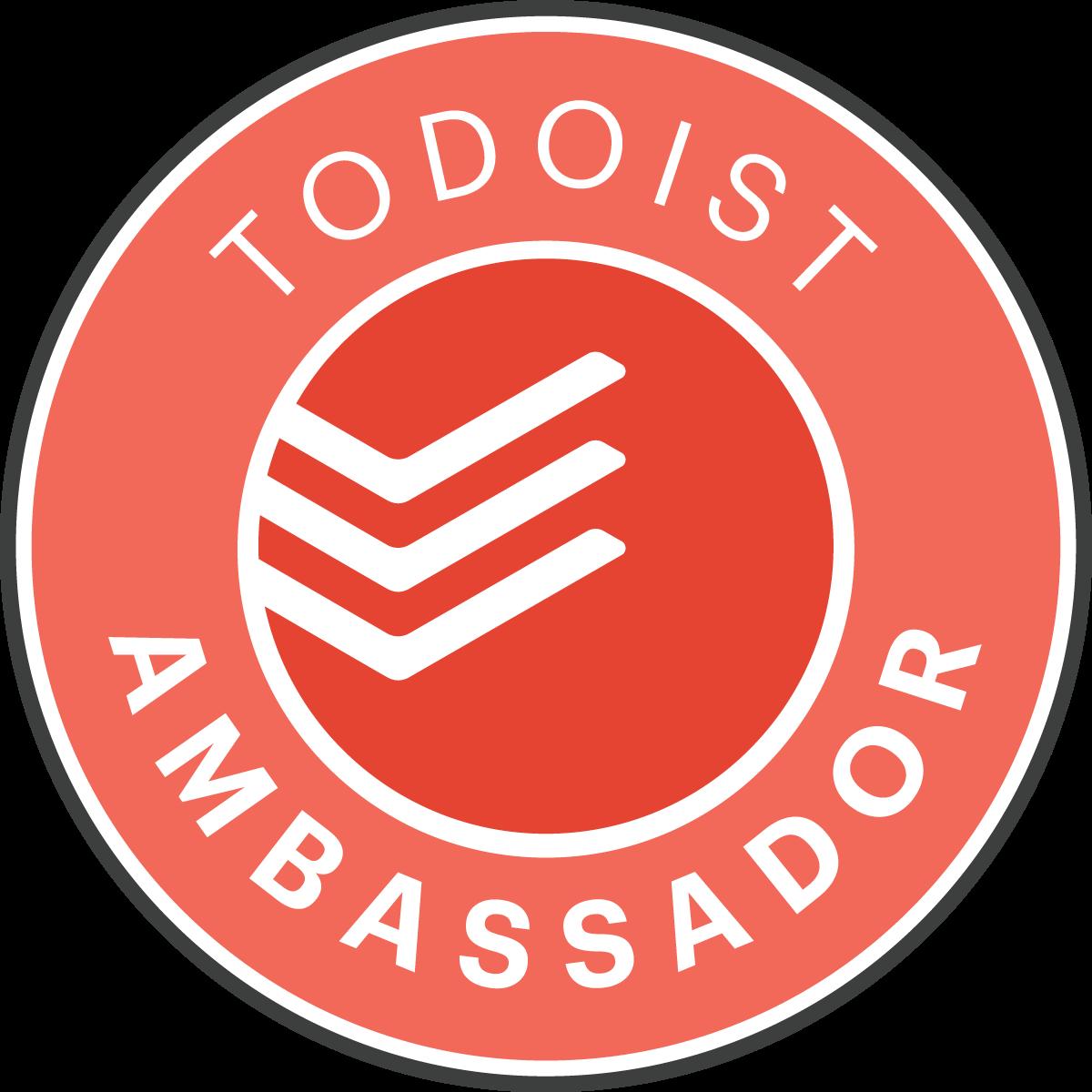 Badge Todoist Ambassador