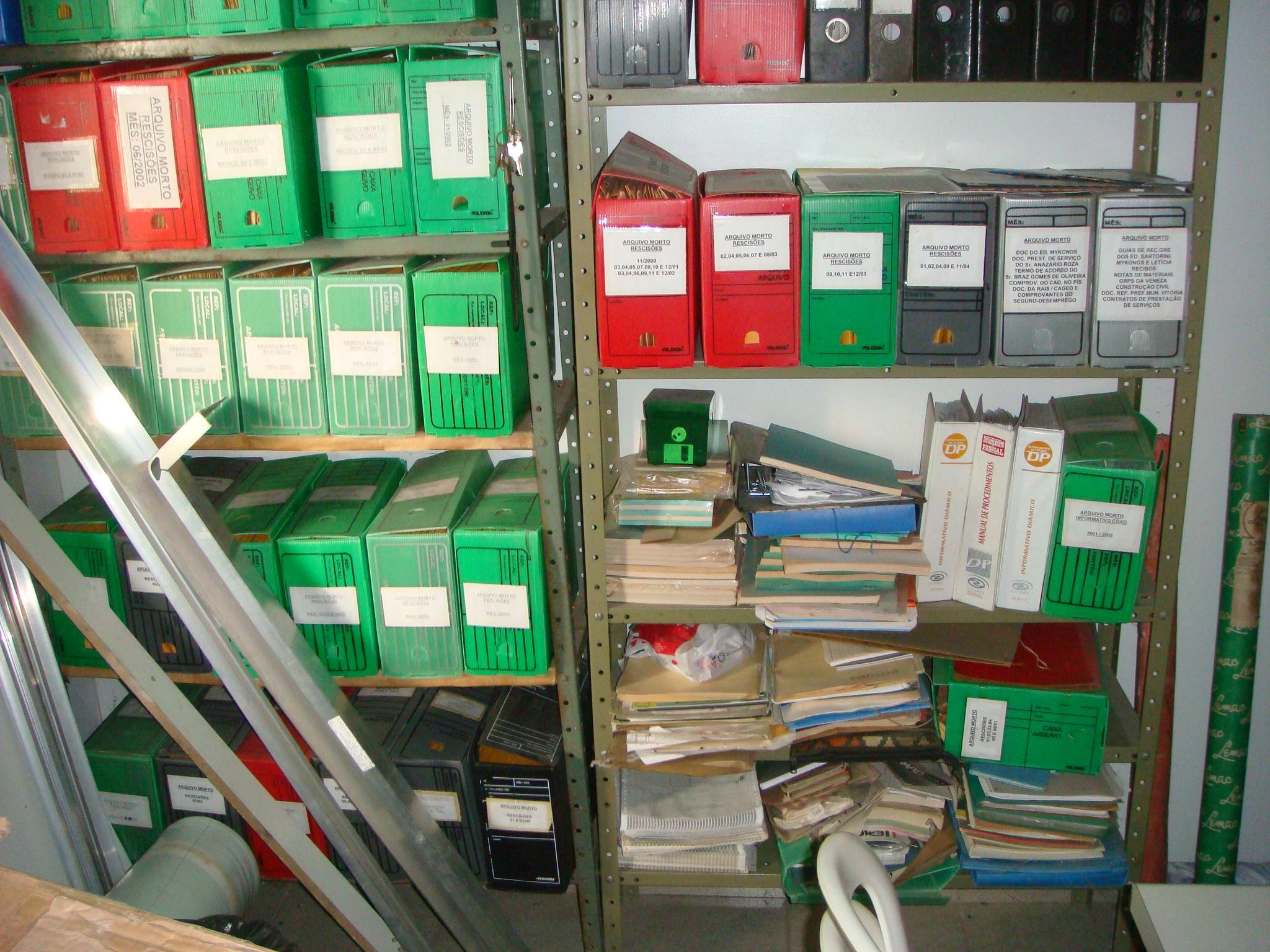 Arquivo Morto: Indefinição gerando desperdício de espaço e perda de informação